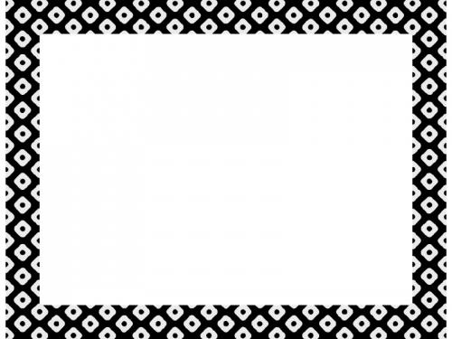 灰色と黒の和柄・鹿の子(かのこ)の囲みフレーム飾り枠イラスト