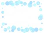 水色の泡の囲みフレーム飾り枠イラスト