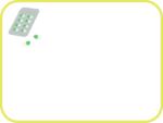 カプセルの薬の黄緑色フレーム飾り枠イラスト