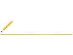 黄色の鉛筆と下線のフレーム飾り枠イラスト