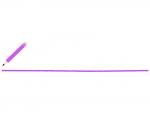 紫色の鉛筆と下線のフレーム飾り枠イラスト