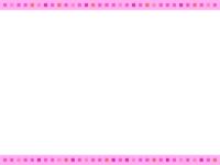 四角ドット(ピンク系)上下フレーム飾り枠イラスト