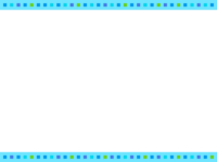 四角ドット(水色系)上下フレーム飾り枠イラスト