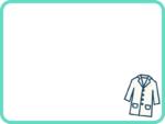 白衣のミントグリーンのフレーム飾り枠イラスト