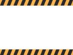 黒と黄色線の注意・警戒の上下フレーム飾り枠イラスト02