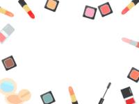化粧品・メイクのフレーム飾り枠イラスト