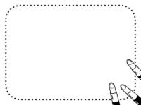 口紅の白黒点線フレーム飾り枠イラスト