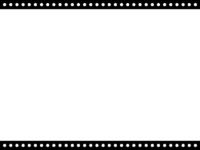 丸ドットの白黒上下フレーム飾り枠イラスト