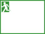 非常口の緑色フレーム飾り枠イラスト