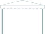 イベントテントの形のフレーム飾り枠イラスト