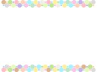 パステルカラーの八角形と四角形の上下フレーム飾り枠イラスト