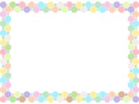 パステルカラーの八角形と四角形の囲みフレーム飾り枠イラスト