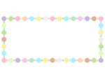パステルカラーの八角形と四角形の横長フレーム飾り枠イラスト