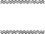 幾何学模様/ギザギザの白黒上下フレーム飾り枠イラスト