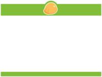 ヘルメットの黄緑色上下フレーム飾り枠イラスト