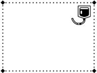 点滴の白黒点線囲みフレーム飾り枠イラスト