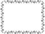 鉛筆と消しゴムの囲みフレーム飾り枠イラスト