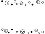 ばい菌の白黒上下フレーム飾り枠イラスト