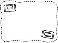 除菌シートの白黒手書き風点線フレーム飾り枠イラスト