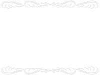 鉛筆風エレガント(シルバー)上下フレーム飾り枠イラスト