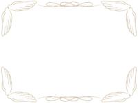 鉛筆風エレガント(ゴールド)フレーム飾り枠イラスト