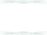 鉛筆風エレガント(緑色)上下フレーム飾り枠イラスト