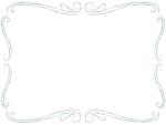 鉛筆風エレガント(深緑色)フレーム飾り枠イラスト
