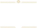 ジュエリーのエレガント(ゴールド)上下フレーム飾り枠イラスト