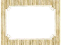 鉛筆線画のラベル風(ゴールド)フレーム飾り枠イラスト