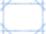 複数鉛筆線(ブルー)のフレーム飾り枠イラスト