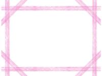 複数鉛筆線(ピンク)のフレーム飾り枠イラスト