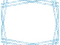斜め複数鉛筆線(ブルー)のフレーム飾り枠イラスト