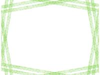 斜め複数鉛筆線(グリーン)のフレーム飾り枠イラスト