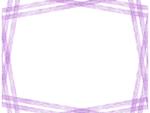 斜め複数鉛筆線(パープル)のフレーム飾り枠イラスト